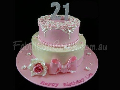 21st-glamorous-birthday-cake