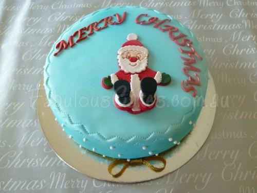 blue-christmas-icing-cake