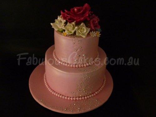 dark-salmon-color-wedding-cake