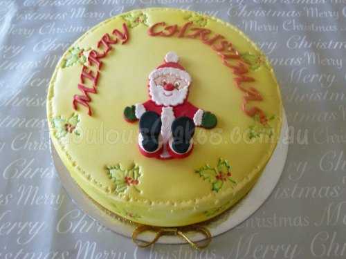 yellow-christmas-icing-cake