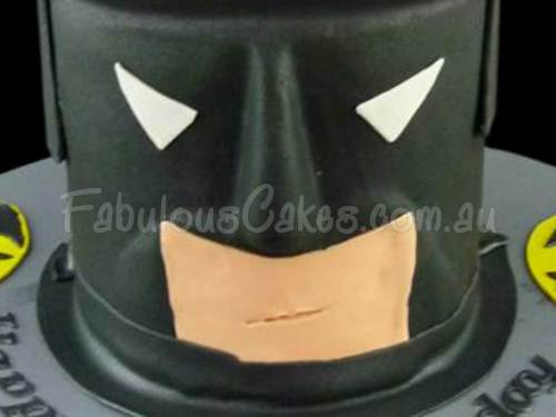Bat Man Birthday Cake