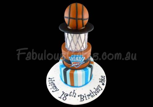 Basket Ball Themed Cake