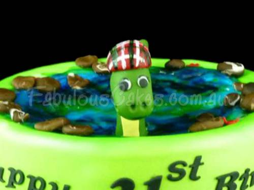 Loch Ness Monster Cake