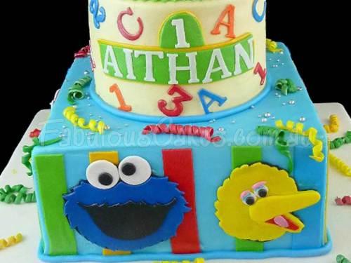 Sesame Street Birthday Cake