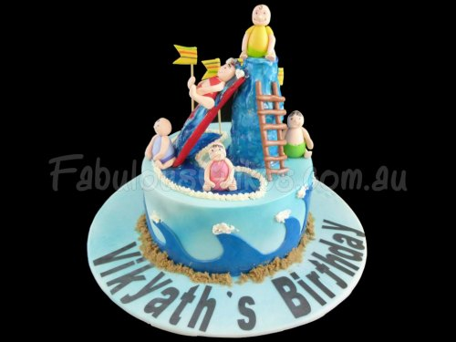 Baby at Water Park Cake