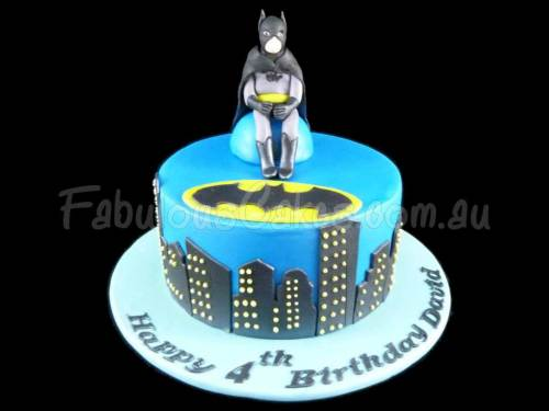 Bat Man Birthday Cake