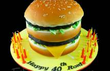 Giant Burger Cakes