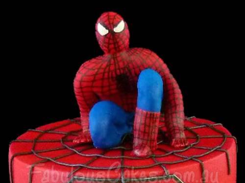 Spider Man Birthday Cake