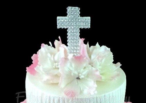 Christening Cake with Ruffels