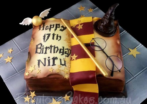 Harry Potter Book of Spell Cake