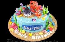 Nemo and Shark Cakes