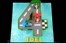 Racing Cars Track Cakes