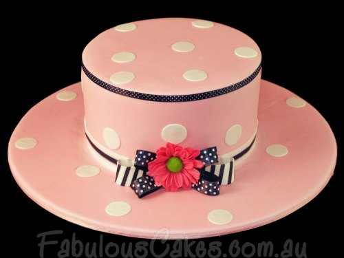 Pink Cake with Polka Dots