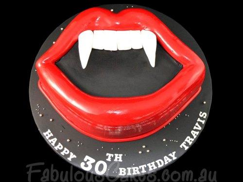 Vampire Theme 30th Birthday Cake
