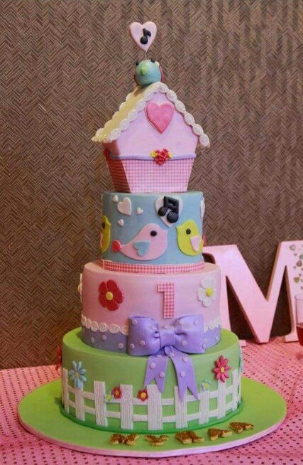 Bird House Theme Cake