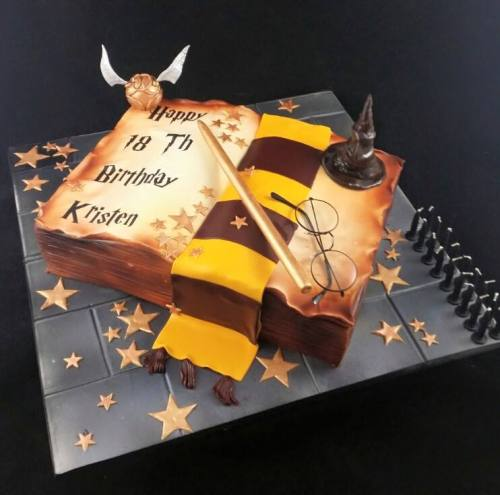 Book of Spells Cake