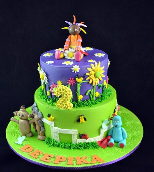 Night Garden Theme Cake