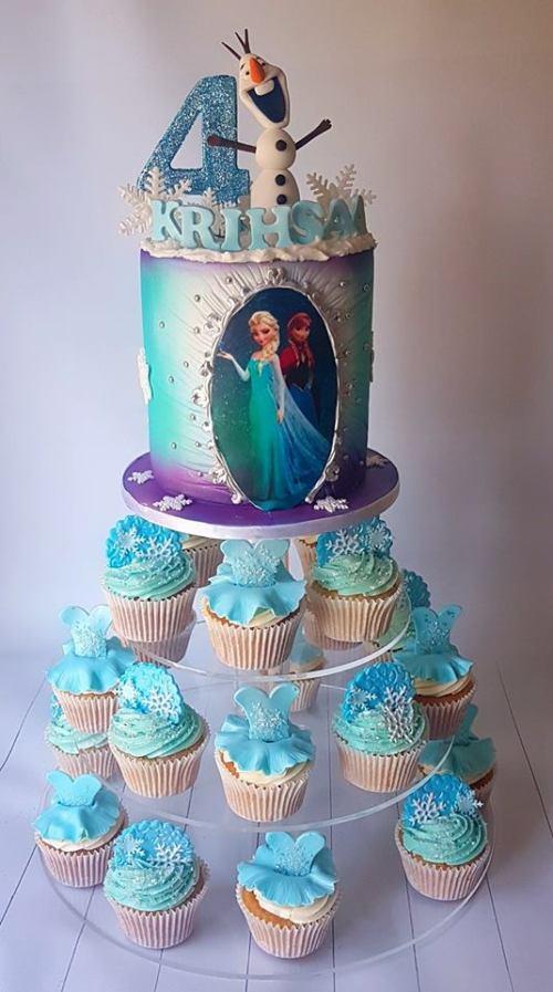 Frozen Cupcakes & Cake