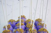 Purple Cake Pops with Gold Details