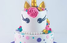 2 Tire Unicorn Cake