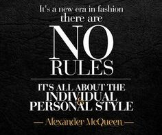 Fashion – the new rules!!