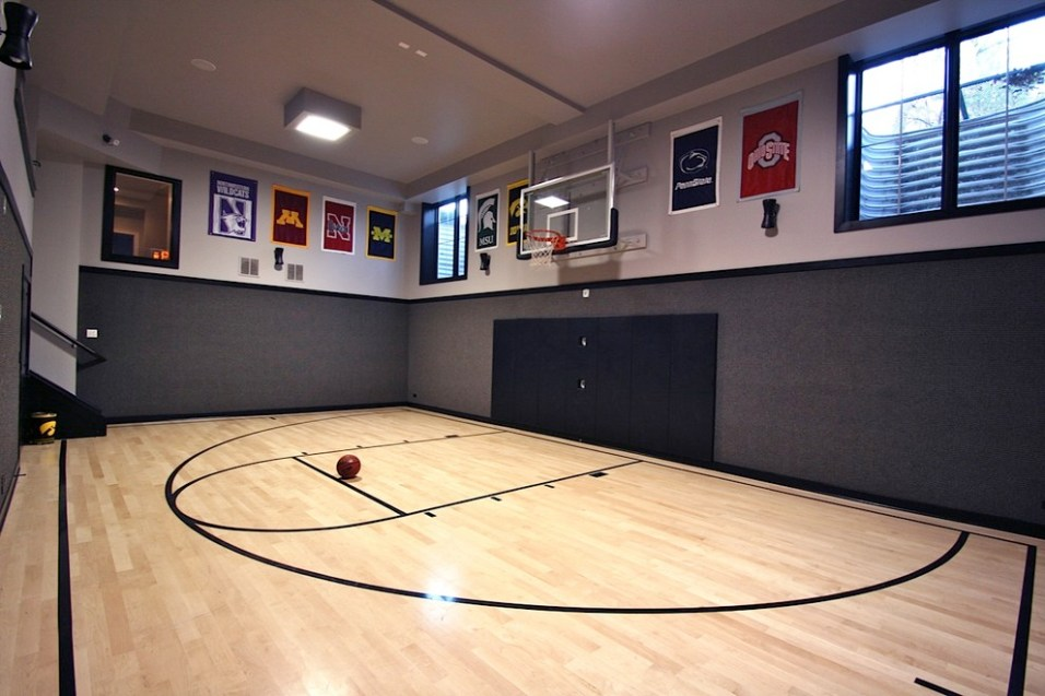 10 basement basketball court ideas. Black Bedroom Furniture Sets. Home Design Ideas