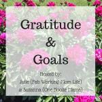 Gratitude and Goals September 2016 #GratitudeGoals