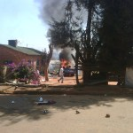 DPP car in Flames