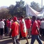 Ian Chakhaza   ianchakhaza Zomba protesters have taken off! #July20 #Malawi