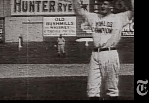 Christy Mathewson @ Polo Grounds in 1906 - Earliest film document of baseball- NY Times