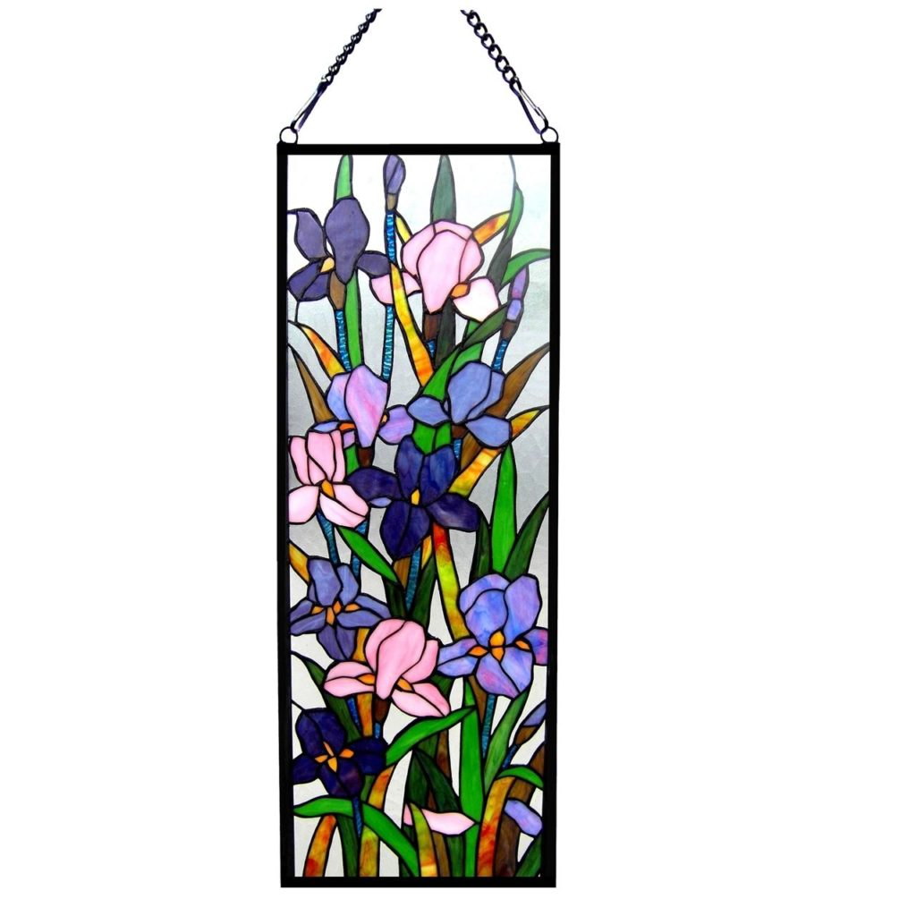 Unusual Handcrafted Iris Floral Tiffany Style Stained Glass Window Panel Stained Glass Fairhaven S Stained Glass Peacock Stained Glass Window Panels Stained Glass Window Film Panels houzz 01 Stained Glass Window Panels