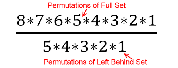 8 choose 3 permutations