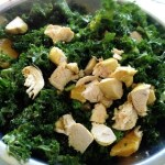 Kale Chicken Salad with Orange Cumin Vinaigrette