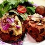 Gochujang Turkey Mushroom Burgers