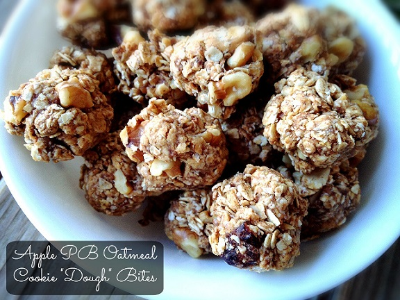 "Apple PB Oatmeal Cookie ""Dough"" Balls"