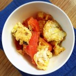 stir-friede tomato and eggs