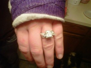 Swollen fingers. I had to take the ring off to even see it!