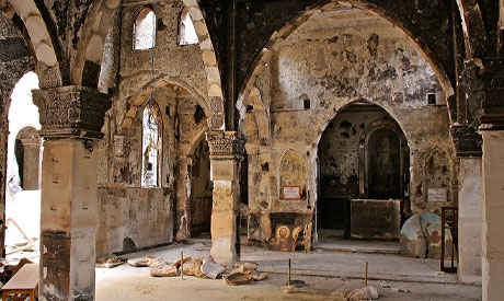 Kafr Hakim church in the working class district of Kerdasa was attacked by Morsi supporters on 14 August 2013
