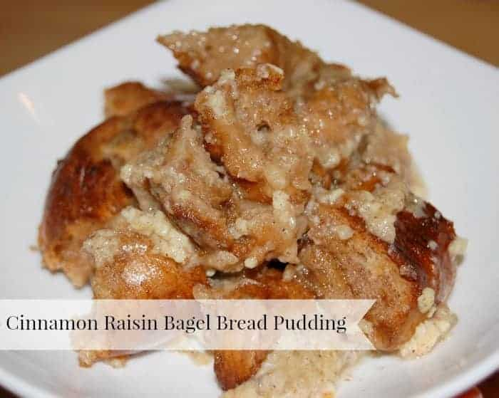 Cinnamon Raisin Bagel Bread Pudding | Faithfully Free