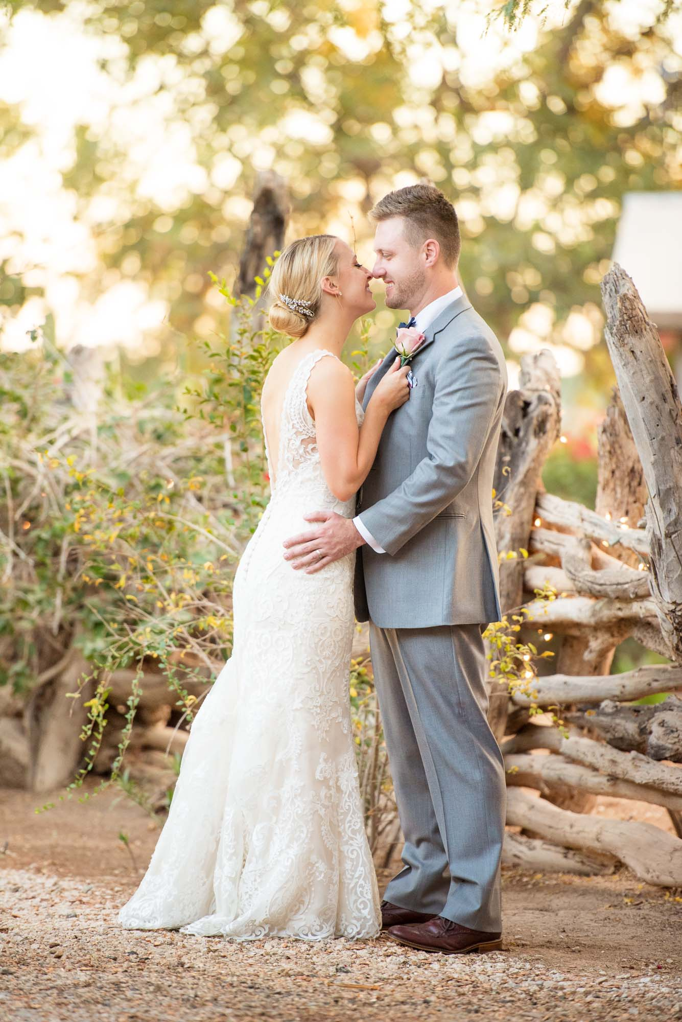 country wedding jamie jason country themed wedding dresses The newly married couple kiss within the rustic grounds of their country themed private estate