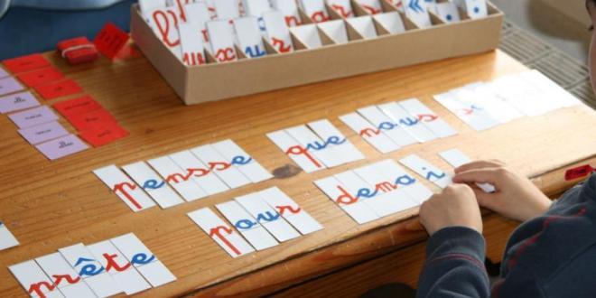 matériel montessori lettre