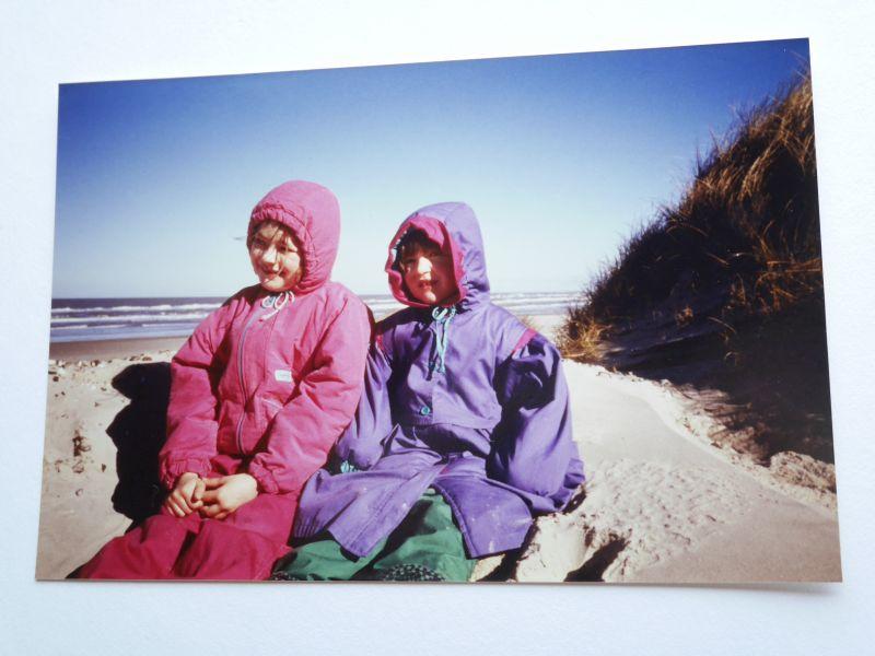 Unsere Reisen als Kind: Meine Schwester Gesa und ich