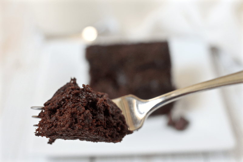 brownies eaten off a fork