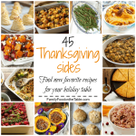 45 Thanksgiving side dishes {recipe round up}