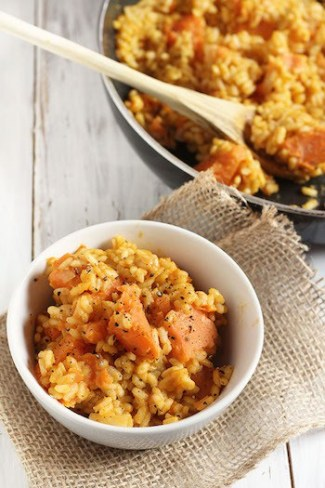 Vegan pumpkin sweet potato risotto | Thanksgiving sides round-up