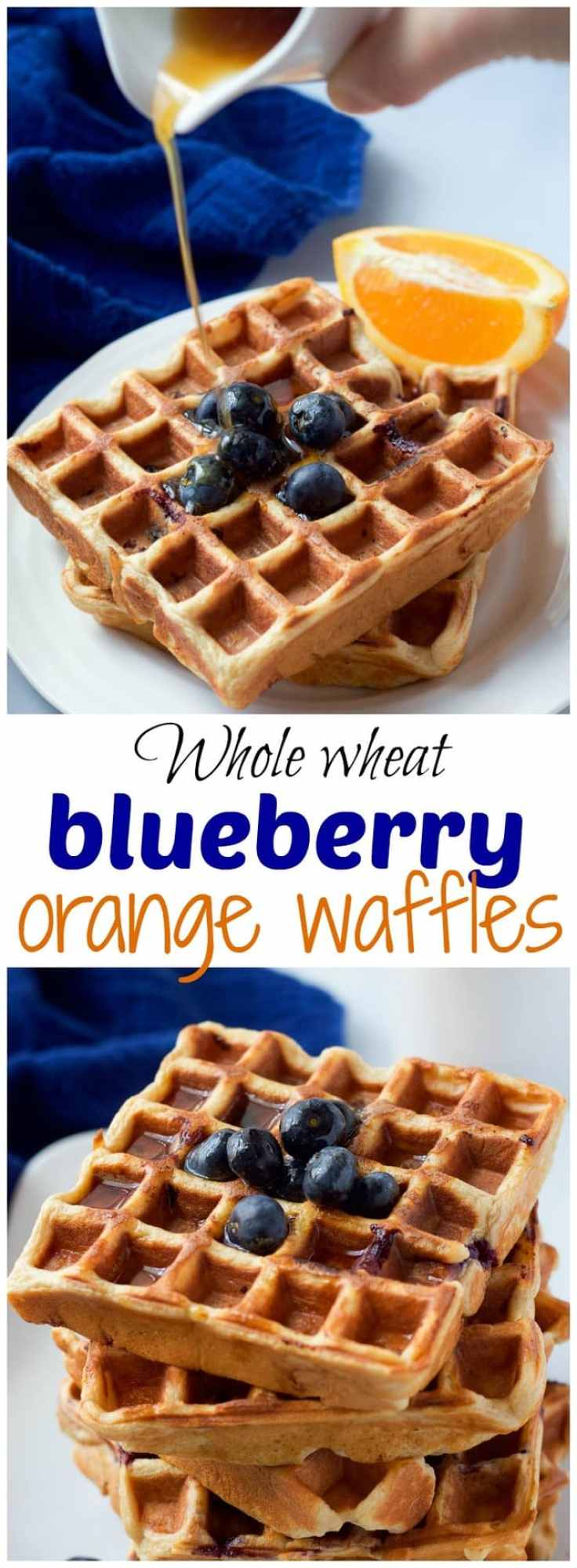 wheat blueberry waffles with an orange maple syrup - a great easy ...