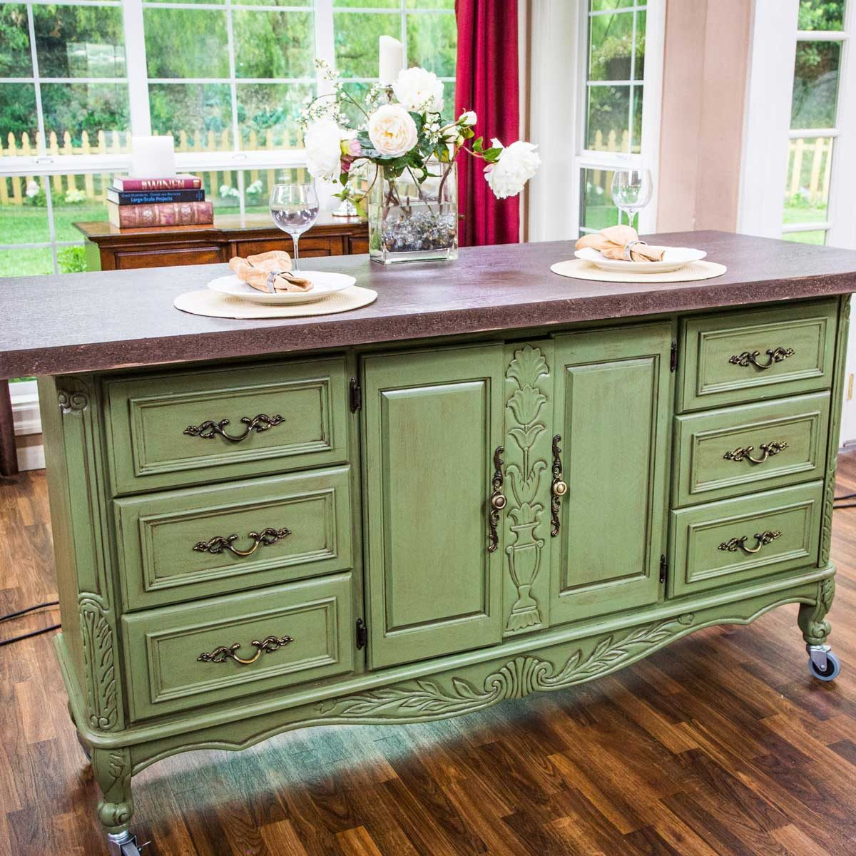 Sturdy Seating Diy Kitchen Island Dresserisland Kitchen Diy Kitchen Islands Family Handyman Diy Large Kitchen Island Table kitchen Diy Kitchen Island With Seating