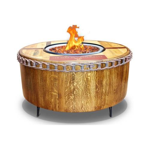 Medium Of Wine Barrel Fire Pit