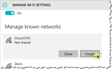 How to Change a WiFi Password in Windows 10—or just delete unwanted networks