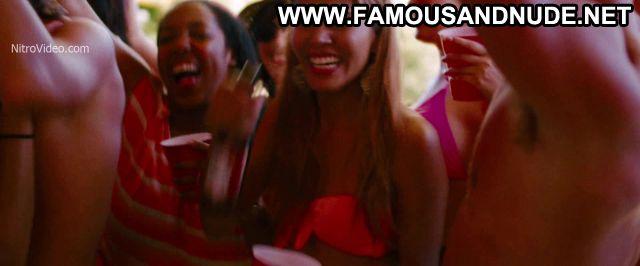 Ashley Benson Nude Sexy Scene Spring Breakers Party Dancing